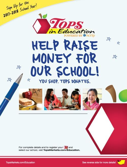 Tops in Education - Help Raise Money for Our School