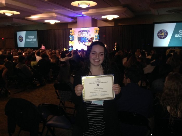 Congratulations to Joelle Provino on receiving the NYSCLSA Outstanding Student Leader Award!