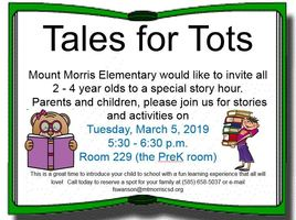 Tales for Tots: A Special Night for Children Ages 2-4