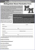 Distinguished Alumni Nomination Forms Due May 1st!