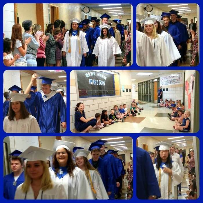 Senior Walk 2018 Collage