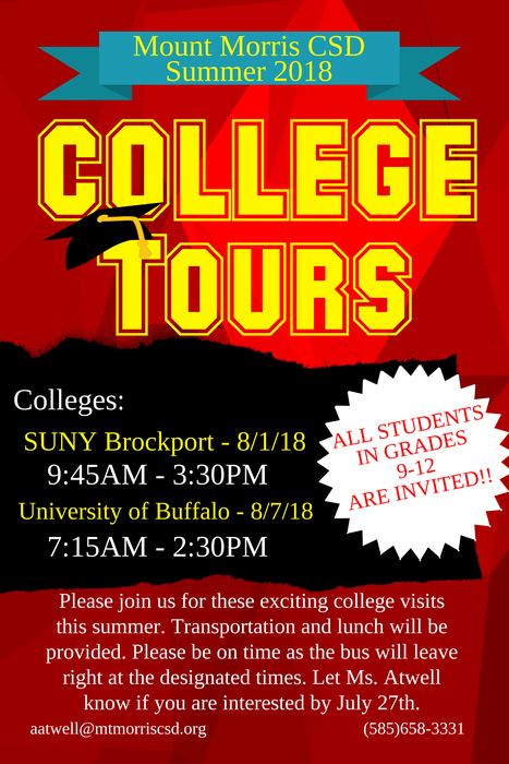 College Tours Flier