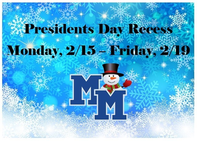 Presidents Day Recess