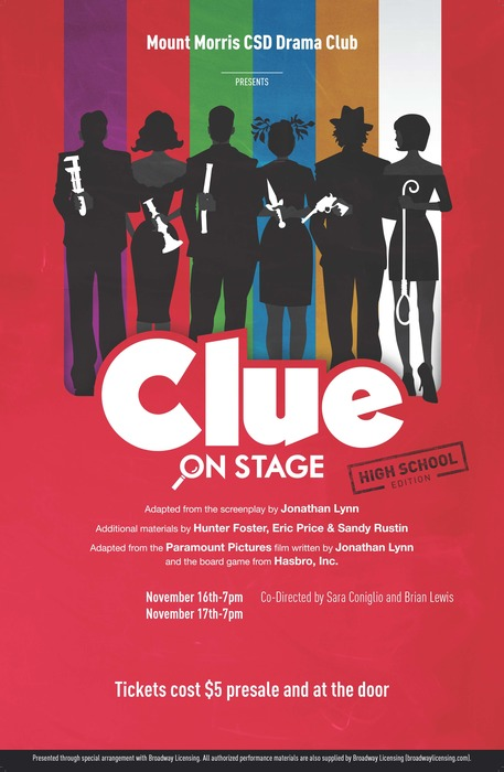 Clue On Stage Poster