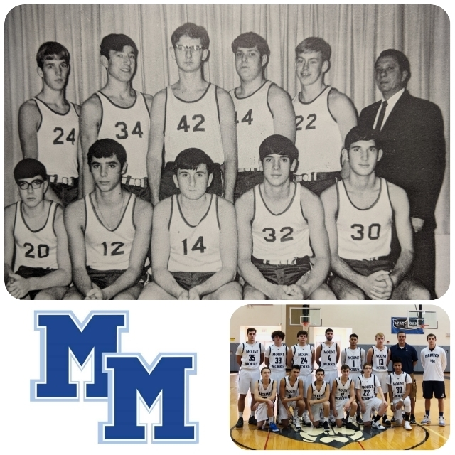 MM Basketball Team Collage - 1969 & 2019