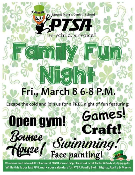 PTSA Family Fun Night Flier