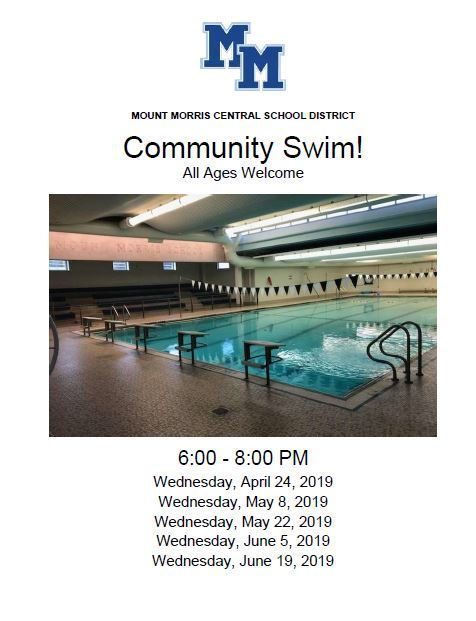 community swim flier