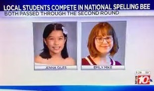 Screen Shot News 10 Spelling Bee Story