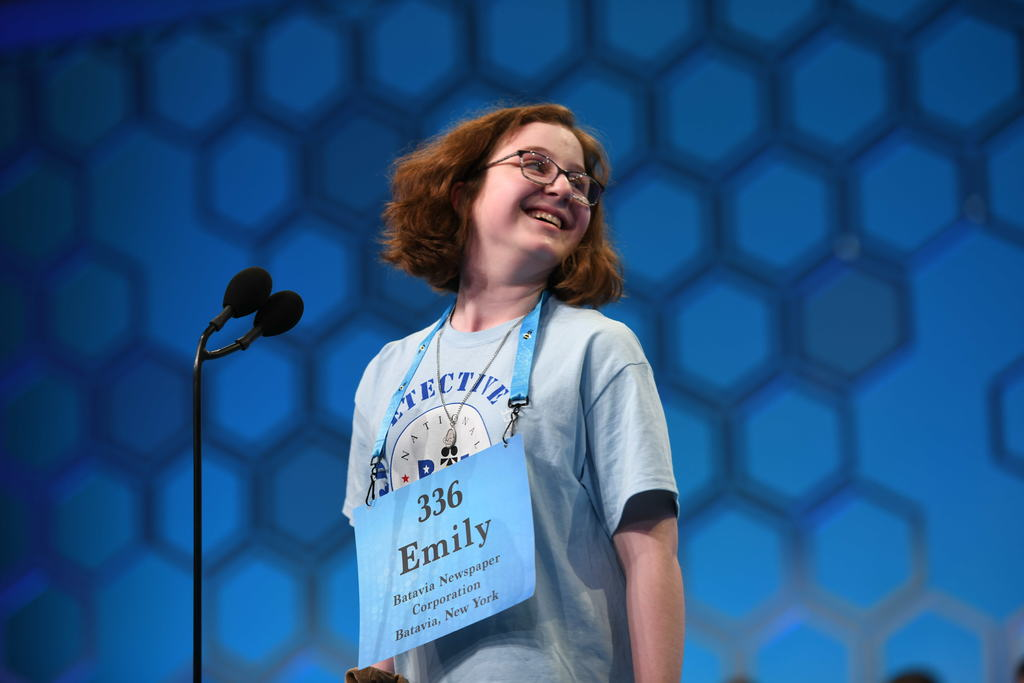 Emily Mike at Scripps National Spelling Bee