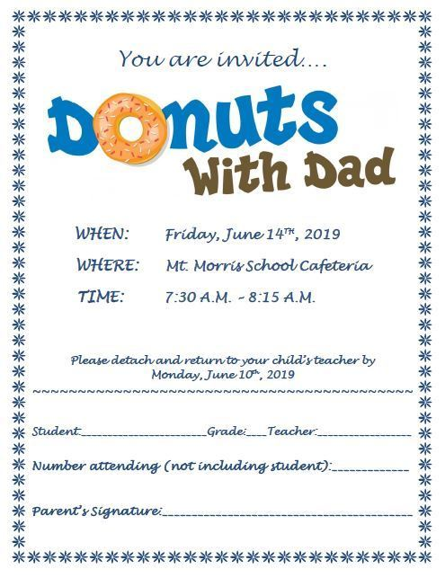 donuts with dad flyer