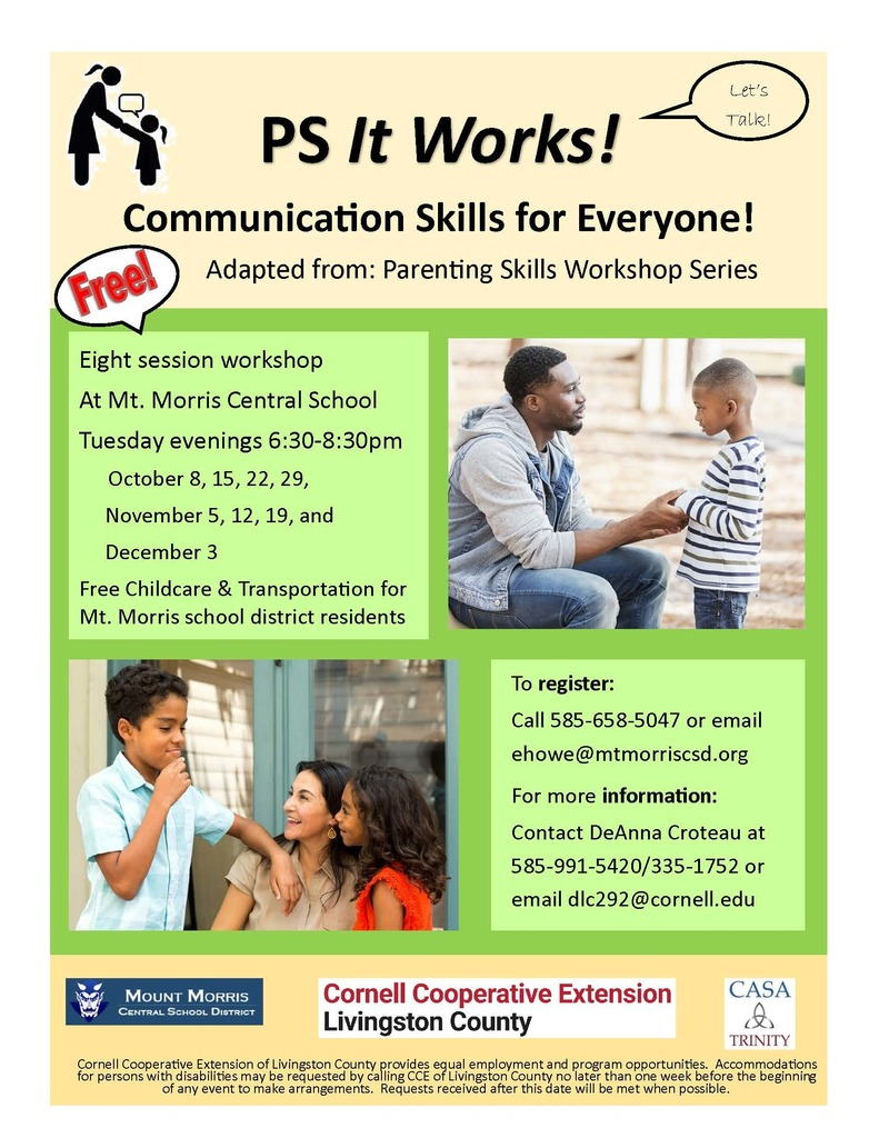 Parenting Skills Workshop Series Flier