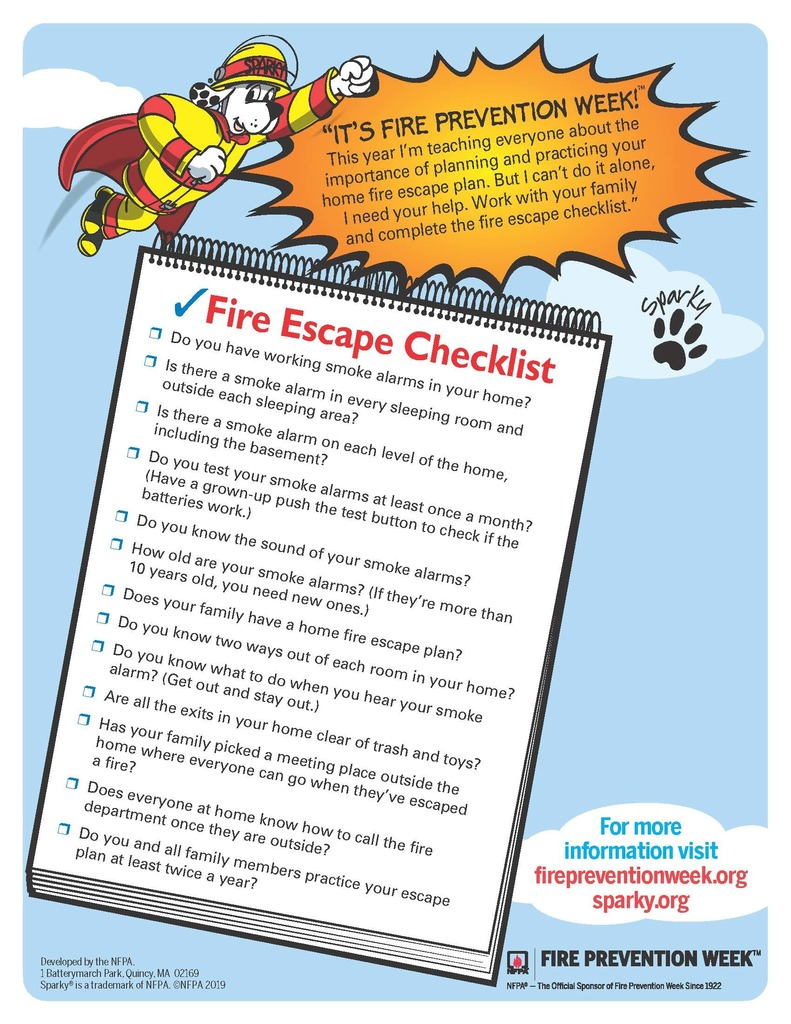 Fire Escape Check List