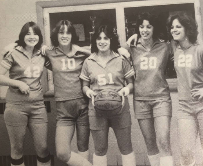 girls basketball throwback