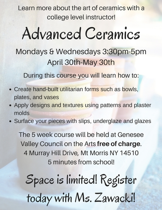 advanced ceramics flyer